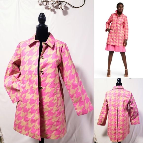 Isaac Mizrahi Jackets & Blazers - 💥Host Pick💥Isaac Mizrahi houndstooth coat  M🦄💋